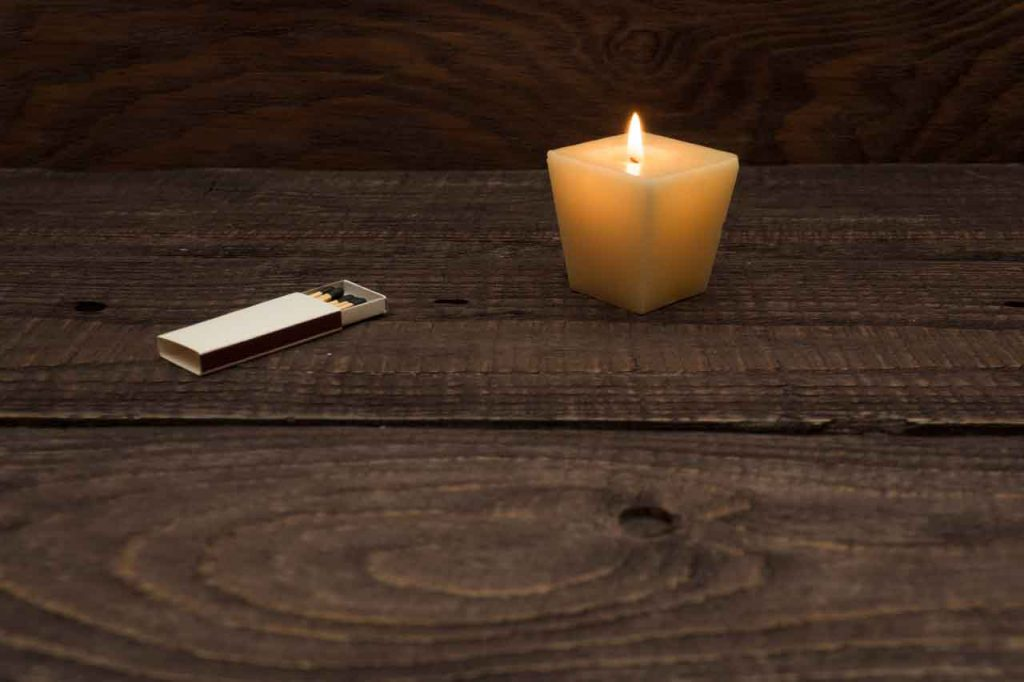 candles are dangerous in power outages, use power outage light bullbs instead of candles and matches