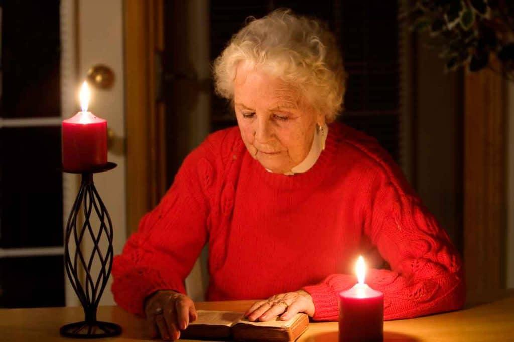 senior living resident safety using power outage light bulbs for emergency lighting